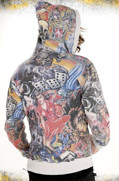 BCE Men's Diablo Tattoo Art Hoodie