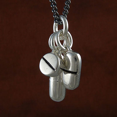 Antique-Silver-Pill-Pendant-Necklace