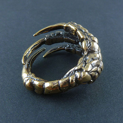 Bronze-Bird-Claw-Ring