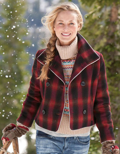 Womens-Retro-Ombre-Plaid-Jacket